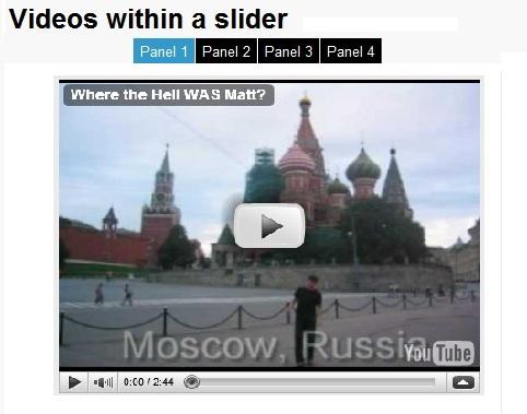 Menu video slider with javascript movement effect-Coda Slider