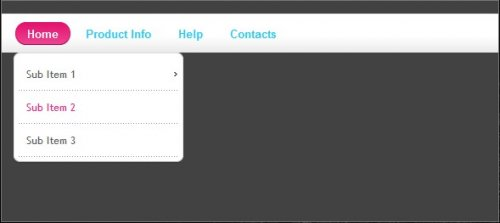 Drop Down Menu with Visual Effects, Javascript and jQuery-jQuery Color Animations
