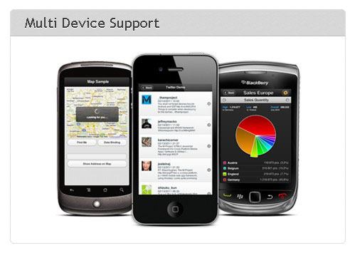 HTML 5 javascript mobile framework-m-project