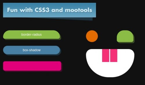 Animated buttons with css and mootools-CssButtons