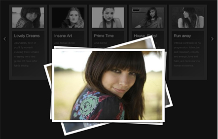 Beautiful Photo Stack Gallery with jQuery-Photo stack