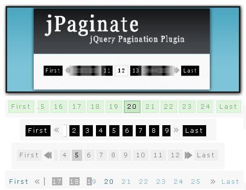 A Fancy jQuery Pagination Plugin-jPaginate