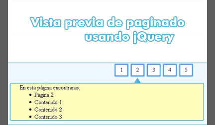 Paginator with preview using jQuery-PaginatorPreview