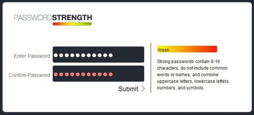 jQuery password strong checker-PasswordChecker