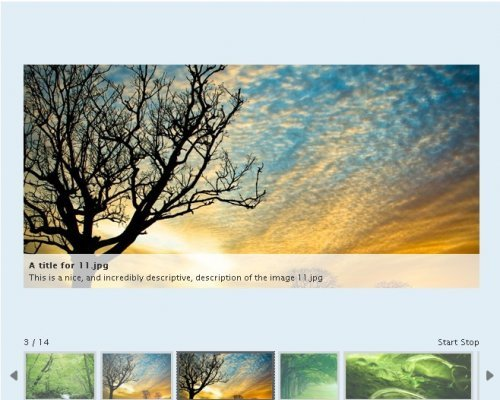 A highly customizable gallery/showcase plugin for jQuery.-AD Gallery