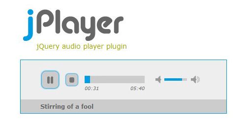 Play and control audio files with javascript-jPlayer