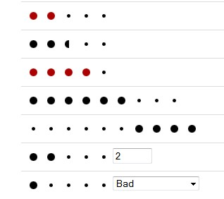 Unobtrusive CSS based rating widget for Prototype.-Control.Rating