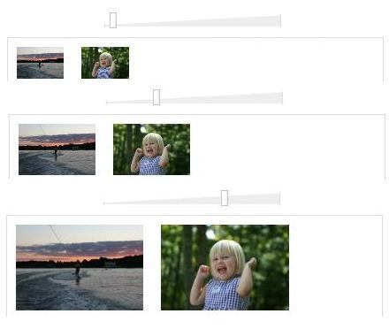 Image resizing using Javascript-iPhoto-like