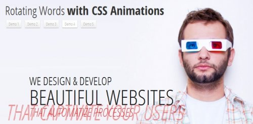 How to create a text rotating effect with CSS3-RotatingWords