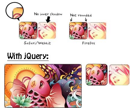 Redondear esquinas de imagenes con jQuery y CSS3-Rounded