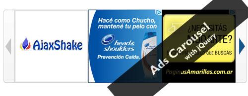 Ads Carousel Rotator with jQuery-adsRotator