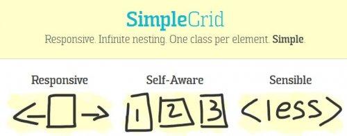 CSS framework that supports responsive design-SimpleGrid