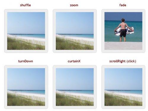 Plugin jQuery para mostrar fotos que admite muchos tipos diferentes de efectos de transición-jQuery Cycle