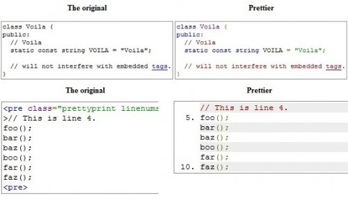 Syntax highlighting source code snippets in an html page.-googleCodePrettify