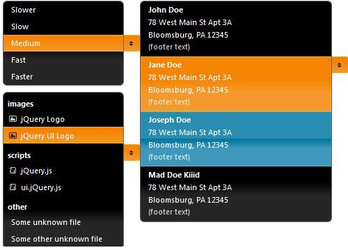 jQuery UI Dropdown menu plugin-dropdownMenu