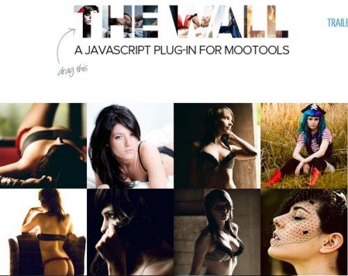 Draggable thumbnail Gallery For MooTools-TheWall