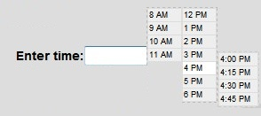 A jQuery timepicker plugin-ClockPick