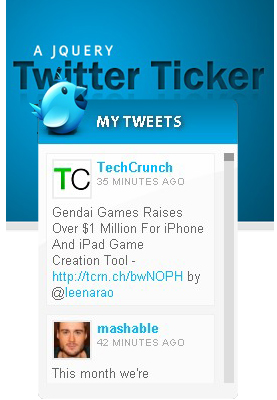 How to create A  Twitter Ticker with javascript and css-Ticker