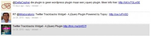 Twitter Trackbacks Widget - A jQuery Plugin-Trackbacks