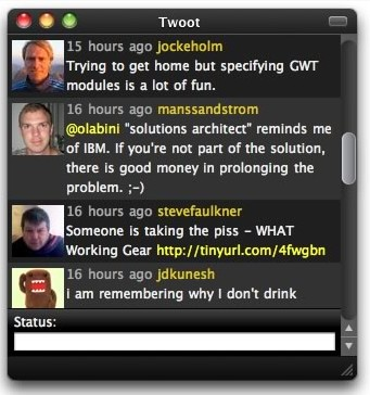 Building your own Twitter client with Fluid and jQuery-Twoot