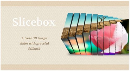3D image slider with jQuery and HTML5 - 3Dslider
