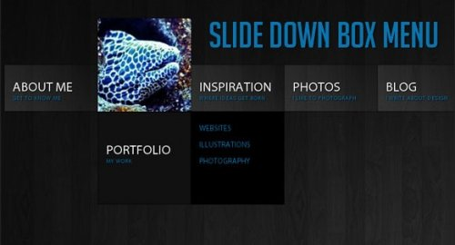 Slide Down Box Menu with jQuery and CSS3 - BoxMenu