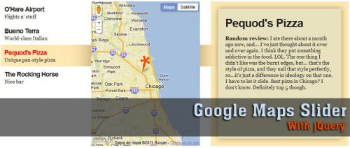 Create a slider for Google Maps with jQuery - GoogleMaps