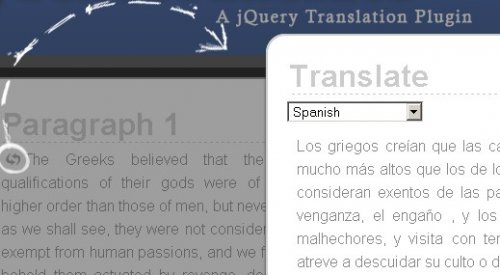 How to create a jQuery Translation Plugin for your web site - jTextTranslate