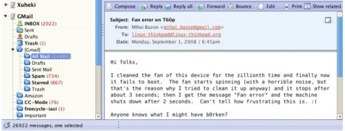 Un rápido cliente IMAP.-Xuheki Webmail