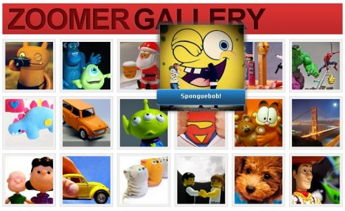 jQuery image Gallery with Flash-like zooming effects - ZoomerGallery