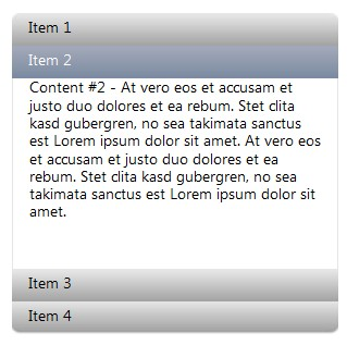 No-click two-level javascript menu  for jQuery - Hoveraccordion