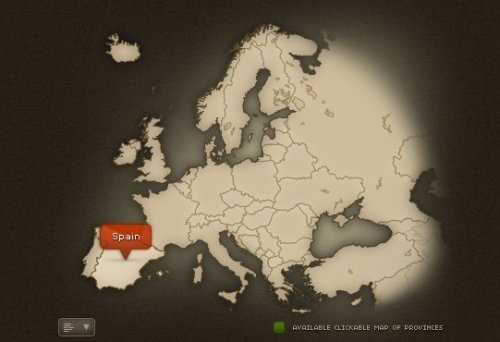 Europe jQuery and CSS  clickable map - EuropeMap
