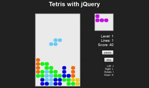 Games in javascript , Tetris source code with jQuery - Tetris