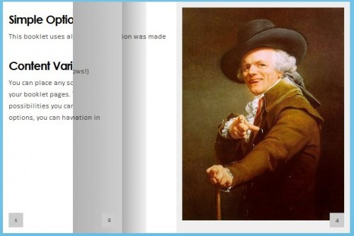 jQuery tool for displaying content on the web in a flipbook layout. - Booklet