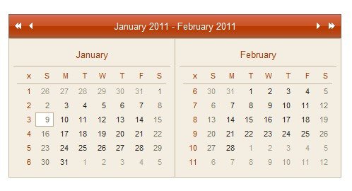 Ajax Calendar Example-AjaxCalendar