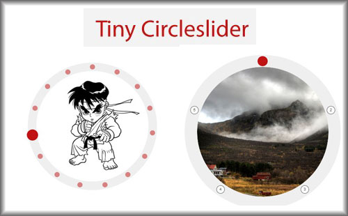Circular javascript  image slider carousel-TinyCircleslider