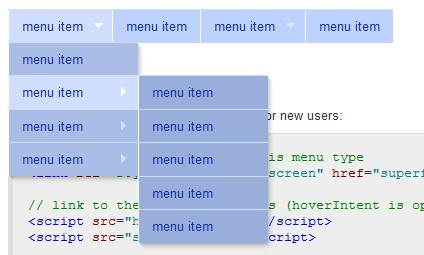 Crear un menu estilo suckerfish con jQuery y Css - Suckerfish