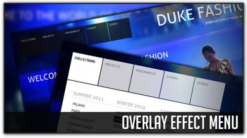 Overlay Menu effect with jQuery - MenuEffect