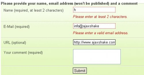 jQuery plugin forms, texbox Validation - Forms Validation