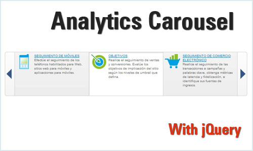 jQuery carousel with google analytics Style - AnalyticsCarousel
