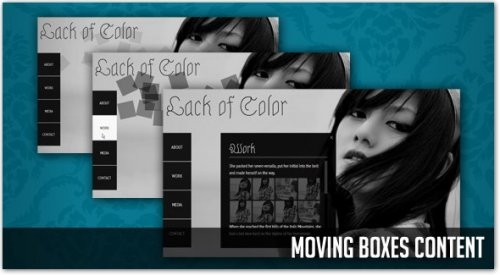 Show content with animated boxes using jQuery - MovingBoxes
