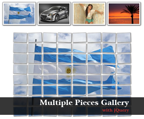 How to create a jQuery gallery spliting the image in multiple pieces - MultiplePartsGallery