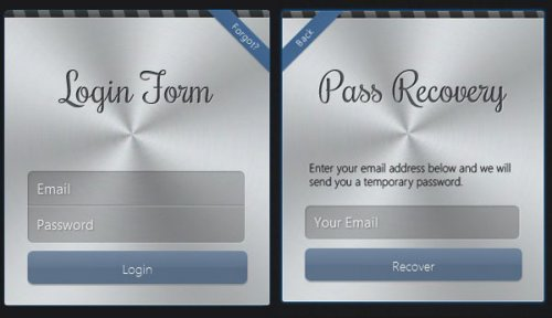 Apple style login form with css3 transforms and jQuery - AppleLoginForm