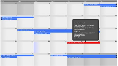Calendario gigante jQuery customizable - frontierCalendar