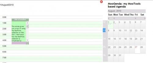 Calendario enorme javascript basado en Mootools-MooAgenda
