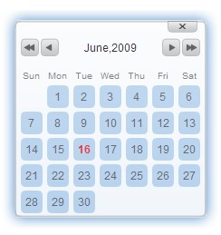 Javascript date picker for your web site - jsDatePick