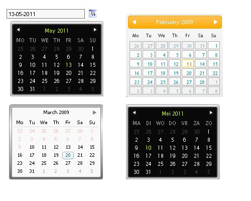 Unobtrusive JavaScript date picker with mootools - Mootools DatePicker