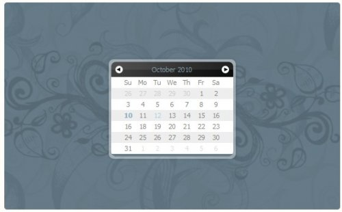 Calendario javascript simple para seleccionar fechas - Eightysix