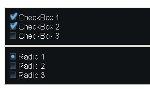 Radio button  and Checkbox style Replacement - Radio-style