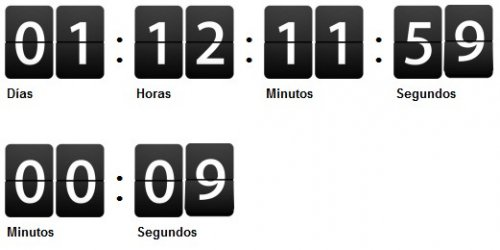 Clock CountDown with jQuery, - CountDown